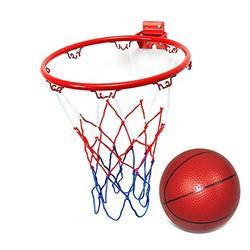 æ— 12.6inch Basketball Rim, Basketball Goal Hoop, Goal Wall Mounted Basketball Hoop with 1 Mini Basketball, Indoor Outdoor Hanging Basketball Goal for Kids Training