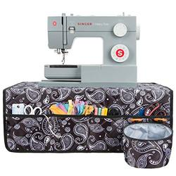 PACMAXI Sewing Machine Pad for Table with Pockets, Sewing Machine Pad Organizer, Pad Organizer for Sewing Machine Accessories, Sewing Machine Mat(Black Paisley)