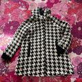 Zara Jackets & Coats | Houndstooth Print Hooded Coat! | Color: Black/White | Size: S