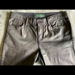 Ralph Lauren Jeans   Lauren Jeans Co Black Coated Denim   Color: Black   Size: 10
