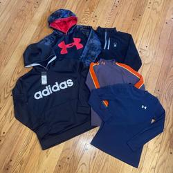 Under Armour Shirts & Tops | Great Fallwinter Lot For Boys Sz Large | Color: Blue/Red | Size: Lb