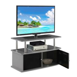 Designs2Go TV Stand with 2 Storage Cabinets and Shelf - Convenience Concepts 151160GY