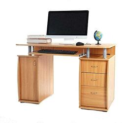Computer Desk PC Laptop Table w/Drawer Home Office Study Workstation-Office desk-Small desk-Computer desk with drawers-Office desks for home-Small computer desk-Office desk with drawers-Computer table