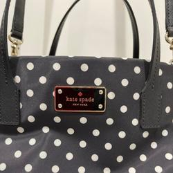 Kate Spade Bags | Kate Spade Satchel | Color: Black/White | Size: 11w X 7tall Kate Spade Bag With 4 Pockets