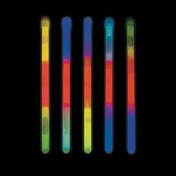 """Fun Express - 9"""" TrI-Color Light Stick (50pc) - Jewelry - Glow - Glow Sticks - 50 Pieces"""