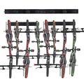 KUTON Bike Rack, 8 Hooks Bike Rack for Garage, 64 inches Wall Mount Bike Hanger for Bike Storage, Heavy Duty Steel Garage Bike Rack Holds up to 600lbs, Adjustable Hooks Fits All Bikes