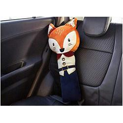 helegeSONG Car Seat Strap Covers for Kids, Seat Pets Stuffed Animal Seat Belt Car Seat Strap Belt Cushion Cover for Kids, Adjustable Pillow Car Protect Kids Shoulder Chest Fox^