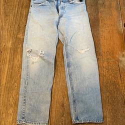 Levi's Jeans   Levis Vintage Distressed Denim Jeans - 32   Color: Blue   Size: 32