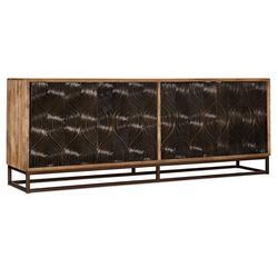 "Hooker Furniture 6344-55486-89 Urban Modern 86"" Wide Swirl Doors Home Entertainment Media TV Console"