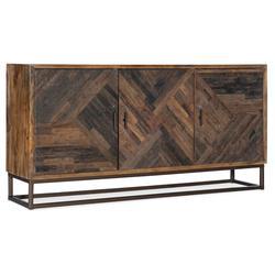 "Hooker Furniture 5905-55469-85 Rustic Art 69"" Wide 3 Door Home Entertainment Media TV Console Rustic"