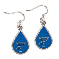 """""""WinCraft St. Louis Blues Tear Drop Dangle Earrings"""""""