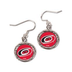 """""""WinCraft Carolina Hurricanes Women's Round Dangle Earrings"""""""