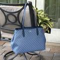 Kate Spade Bags | Kate Spade Spade Link Shoulder Tote Bag Blue | Color: Blue/White | Size: Os