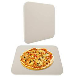 """Finderomend 12""""X 15"""" Pizza Grilling Stone, Baking Stone, Pizza Stone Thermal Shock Resistant, Rectangular Cordierite Ceramic Pizza Grilling Stone for Ovens & Grills,Durable and Safe, Rectangular"""