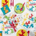 Creative Converting Balloon Animal Party Supplies Kit for 8 Guests Paper in Blue/Green/Red | Wayfair DTC6159E2A