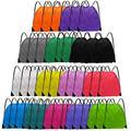 Grneric Drawstring Backpack Bulk String Backpack Drawstring Bags Cinch Bag Sackpack for Kid Women Gym 42 Pcs 14 Colors