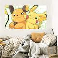 "3D Wall Sticker for Pokemon Pikachu 326 Wall Stickers Vinyl Wall Murals Print Art | Self-Adhesive Large Wall Stickers AJ US (Vinyl (No Glue & Removable), 【36.3"" x 20.6""】 92x52cm(WxH))"