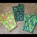 Lilly Pulitzer Pants & Jumpsuits   Lilly Pulitzer Lilly Bundle Vintage Floral Pants 8   Color: Blue/Yellow   Size: 8