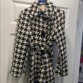 Michael Kors Jackets & Coats | Michael Kors Houndstooth Coat Size 6 | Color: Black/White | Size: 6