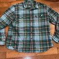 J. Crew Shirts | J Crew Green Cotton Mens Flannel Size Extra Large | Color: Green | Size: Xl