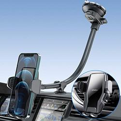 """[2021 Upgraded] Car Phone Holder Mount, 13"""" Gooseneck Cell Phone Holder for Car with Strong Suction Cup, Hands Free Dash Windshield Air Vent Cell Phone Mount for Car Truck, Fits 4.7-7 inches Mobile"""