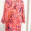 Lilly Pulitzer Swim | Lilly Pulitzer Linen Coverup | Color: Orange/Pink | Size: S