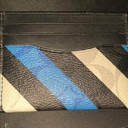 Coach Accessories | Coach Card Wallet | Color: Black/Blue | Size: Coach Card Wallet