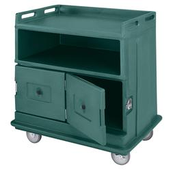 """Cambro MDC24F192 44 1/2"""" Polymer Beverage Service Cart, 30""""D x 44""""H, Green"""