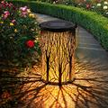 OxyLED Solar Lantern, 1 Pack LED Solar Garden Lights Outdoor, Hanging Lanterns Solar Powered with Handle Waterproof, Decorative Solar Lights for Table Patio Yard Pathway Walkway Driveway Christmas