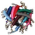 FMS Ravenox Lead Ropes for Horses | 5/8-Inch MFP Rope Horse Lead (Burgundy-Bolt Snap)