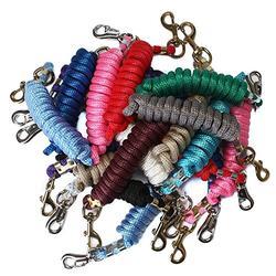 FMS Ravenox Lead Ropes for Horses   5/8-Inch MFP Rope Horse Lead (Burgundy-Bolt Snap)
