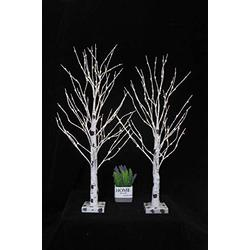 """30"""" 90LT Warm White Copper Wire Lamp LED 3AA Battery Operated Birch Tree Light Tabletop Tree Light Jewelry Holder Decor for Home Party Wedding(Not Contain Batteries) 2Sets"""