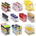 Clear Fridge Organizer Bins Set - 10 Piece Plastic Storage Bins for Pantry with Handle, Refrigerator Organizers and Storage Bins for Closet Organization, Clear Storage Bins for Shelves