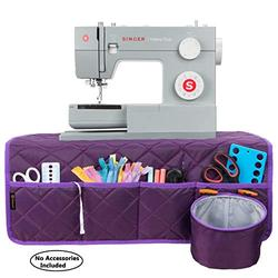 PACMAXI Sewing Machine Pad for Table with Pockets, Sewing Machine Pad Organizer, Pad Organizer for Sewing Machine Accessories, Sewing Machine Mat(Purple)