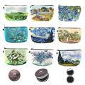 9 Pieces Makeup Bag Multipurpose Toiletry Pouch Waterproof Cosmetic Travel Bag with Van Gogh Patterns, 9 Styles (Van Gogh series)