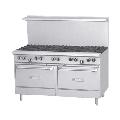 "Garland GFE60-10RR 60"" 10 Burner Gas Range w/ (2) Standard Ovens, Liquid Propane"