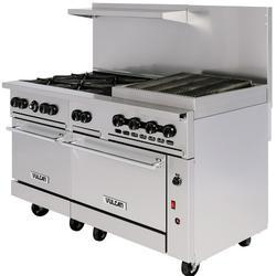 "Vulcan 60SC-6B24CBN 60"" 6 Burner Gas Range w/ Charbroiler, (1) Standard Oven & (1) Convection Oven, Natural Gas"