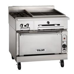 "Vulcan VTC36C 36"" Gas Range w/ Charbroiler & Convection Oven, Liquid Propane"