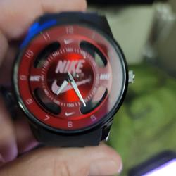 Nike Accessories | Brand New Never Worn Nike Swoosh Watch | Color: Black/Red | Size: Os