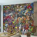 "East Urban Home 'Sports Illustrations 9.8' L x 94"" W 6-Panel Wall Mural Sports Illustrations 9.8' L x 94"" W 6-Panel Wall Mural, Size 94""H X 118""W"