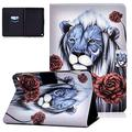 Kindle Fire HD 8 Case 8th/7th/6th Generation, UGOcase PU Leather Shockproof Slim Lightweight Folio Stand Case with Auto Wake/Sleep for Amazon Fire HD 8 Tablet 2018/2017/2016 Release, Retro Lion