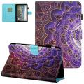 """Fire HD 8 Case 2020, Fire HD 8 Plus Tablet Case 2020, UGOcase Premium PU Leather Multi-Angle Stand Auto Sleep Wake Cover Case for Fire 8"""" HD Display Tablet 2020 Release 10th Generation, Datura Flowers"""
