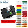 Unistar – ruban d'étiquettes pour imprimante TZe-231 TZe-221, Compatible avec Brother PT, tze-231