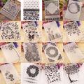 Dossier de conception en plastique pour Scrapbook, gaufrage de feuilles et de papillons, pour carte