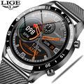 LIGE – montre connectée de sport pour hommes, bracelet de sport, avec appels Bluetooth, écran