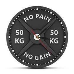 Pas de douleur pas de GAIN 50KG haltère 3D horloge murale moderne haltère haltère musculation montre