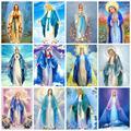 HUACAN 5d diamant peinture vierge marie diamant broderie point de croix Religion photos de strass