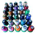 Trois fils à coudre en polyester haute résistance 250D, fil à coudre léger en soie, toile, cuir,