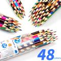 Grooved Colored Pencils HB Pencils Triangular Wood Pencil Set for Writing and Drawing School&office