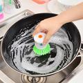 Brosse de nettoyage automatique pour liquide, 1 pièce, distributeur de savon de lavage, brosses de